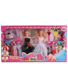 Doll And Accessories Set Black - Height 28 cm