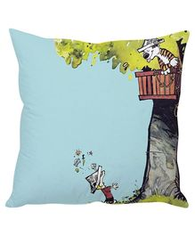 Stybuzz Tiger In Tree House Cushion Cover Light Blue - FCC00006