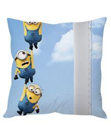 Stybuzz Three Minions Cushion Cover Light Blue - FCC00026