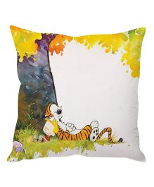 Stybuzz Tiger Under A Tree Cushion Cover Multicolor - FCCS00008