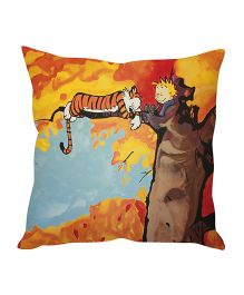 Stybuzz Tiger On A Tree Cushion Cover Multicolor - FCCS00009
