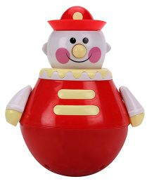 Roly Poly Clown Toy - Red White