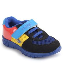 Footfun Casual Shoes With Velcro Closure - Blue