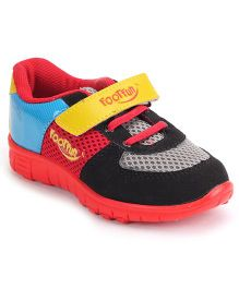 Footfun Casual Shoes With Velcro Closure - Red