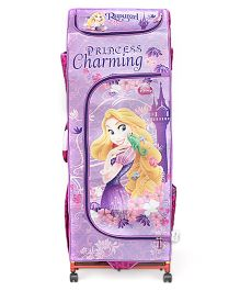 Disney Princess Rapunzel Kids Portable Wardrobe With Wheels - Purple