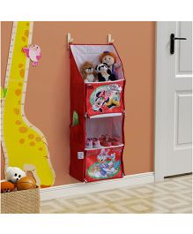 Minnie Mouse Multipurpose Foldable Hanging Rack - Red