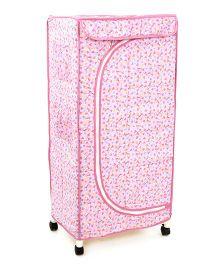 New Natraj Toys Storage Unit With Wheels - Pink