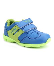 Footfun Casual Shoes With Dual Velcro Closure - Green Blue