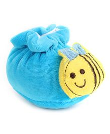 Cute Walk Booties Honeybee Motif - Blue And Yellow