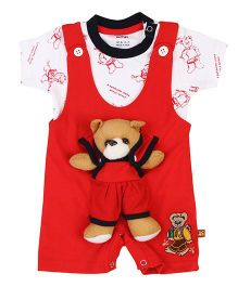 Wow Play Teddy Romper And T-Shirt - Red And White