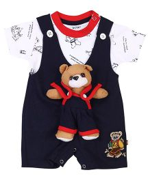 Wow Play Teddy Romper And T-Shirt - Navy And White