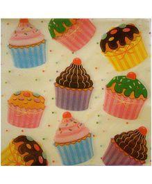 ShopAParty Multi Cupcake Napkins - Multicoloured