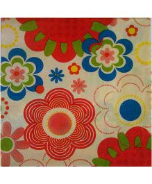 ShopAParty Retro Flower Napkins - Multicoloured
