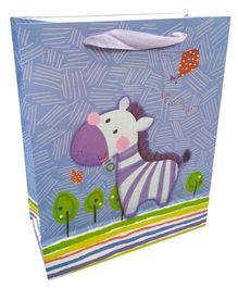 ShopAParty Gift Bag Smiling Zebra - Multicoloured