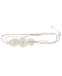 Aayera's Nest Double Chain Pearl Necklace - White