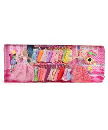 Doll And Accessories Set Multi Color - Height 28 cm
