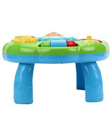 2-in-1 Play N Learn Learning Table - Green Yellow