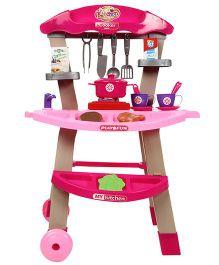 Kitchen Trolley Set Pink - 18 Pieces