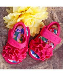 D'chica Shoes Flowers Baby Sandals - Pink
