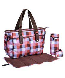 My Milestones Diaper Bag Diva Tote - Geometric Pink