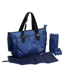 My Milestones Diaper Bag Diva Tote - Blue Stripes