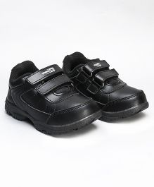 Force 10 School Shoes With Dual Velcro Closure - Black