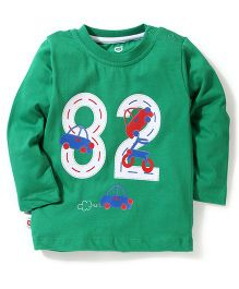 Baby League Full Sleeves T-Shirt 82 Print - Green