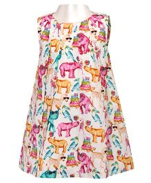 Soul Fairy Multicolour Zoo Print Dress with Sequin Highlights