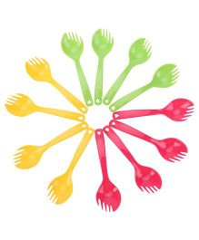 Set of Forks Multi Color - 12 Pieces
