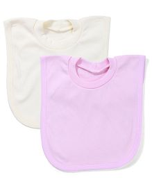 Babyhug T-Shirt Style Bib Set of 2 - Pink And Yellow