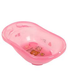Baby Bath Tub Bear Print - Pink