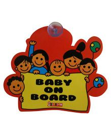 Blossom Car Sign Baby on Board - Multicolour