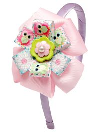 Ribbon Candy Owl Hairband - Pink