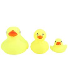 Squeezy Duck Baby Bath Toys Pack Of 3 - Yellow