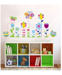 Nidokido Butterfly Garden  Wall Sticker - Multicolour