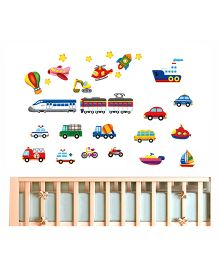 Nidokido Transport Wall Sticker - Multicolour