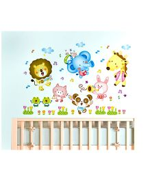 Nidokido Musical Animals Wall Sticker - Multicolour