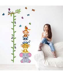 Nidokido Stacked Animals Height Chart Wall Sticker - Multicolour