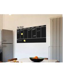 Nidokido Weekly Planner Wall Sticker - Black