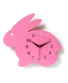Nidokido kido Bunny Modern Wall Clock - Pink