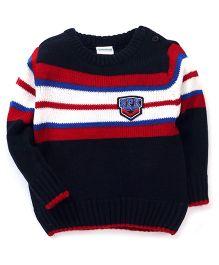 Babyhug Full Sleeves Sweater SPK Patch - Navy Blue