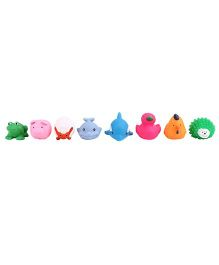 Animal Shape Baby Bath Toys  Pack Of 8 - Multicolor