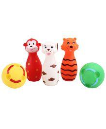Animal And Ball Shape Baby Bath Toys  Pack Of 5 - Multicolour