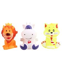 Animal Shape Baby Bath Toys  Pack Of 3 - Multicolour