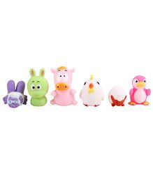 Animal Shape Baby Bath Toys  Pack Of 6 - Multicolour