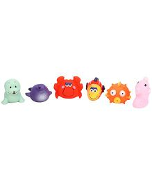 Sea Animal Baby Bath Toys Pack Of 6 - Multicolour