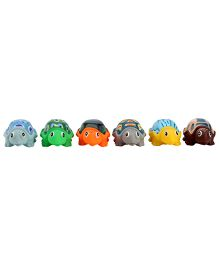 Squeezy Tortoise Baby Bath Toys Pack Of 6 - Multicolour