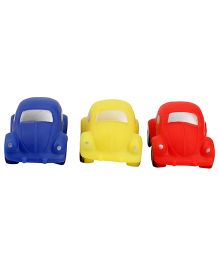 Squeezy Car Baby Bath Toys Pack Of 3 - Multicolour