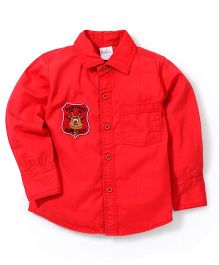 Babyhug Full Sleeves Solid Shirt - Red