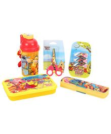 Winnie The Pooh School Kit Pack Of 5 - Yellow & Red